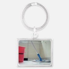 Mop and bucket Landscape Keychain