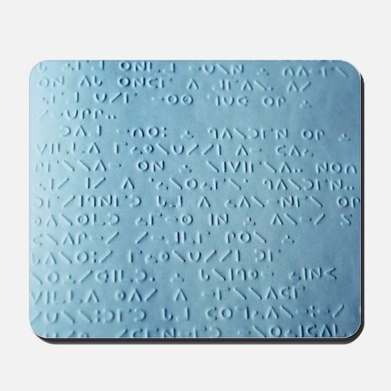Moon braille Mousepad