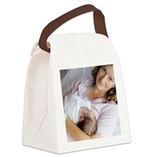 Mother and baby Canvas Lunch Bag