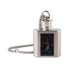Chrysler Building at night, US. Flask Necklace