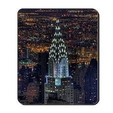 Chrysler Building at night, US. Mousepad