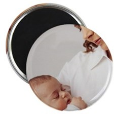 Mother and baby girl Magnet