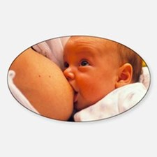 Mother breast-feeding her 3 month o Decal