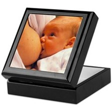 Mother breast-feeding her 3 month old Keepsake Box