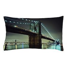 Brooklyn Bridge at night Pillow Case