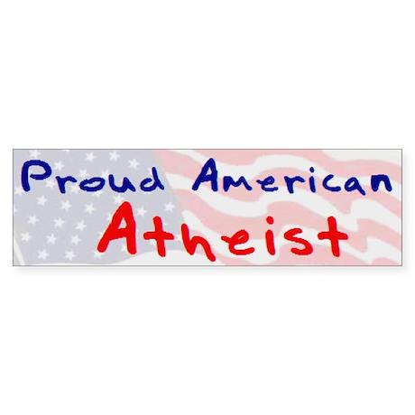 Atheist American Bumper Sticker