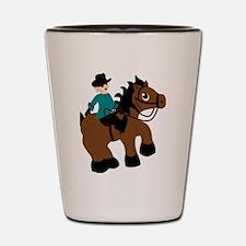 Horseback Riding Shot Glass