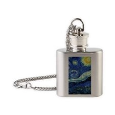Van Gogh Starry Night Flask Necklace