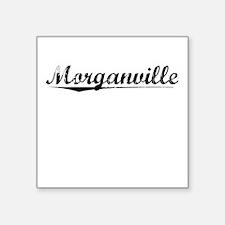 """Morganville, Vintage Square Sticker 3"""" x 3"""""""