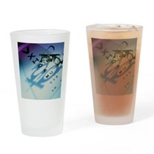 Ophthalmology test frames and eye c Drinking Glass