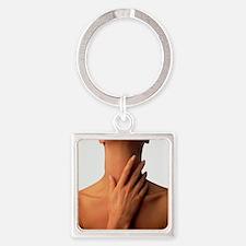 Neck massage Square Keychain