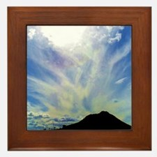 Cloudy Skys Framed Tile