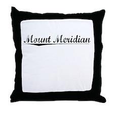 Mount Meridian, Vintage Throw Pillow