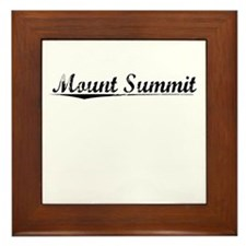 Mount Summit, Vintage Framed Tile
