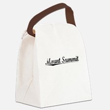 Mount Summit, Vintage Canvas Lunch Bag