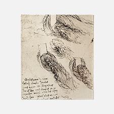 Notes by Leonardo da Vinci Throw Blanket