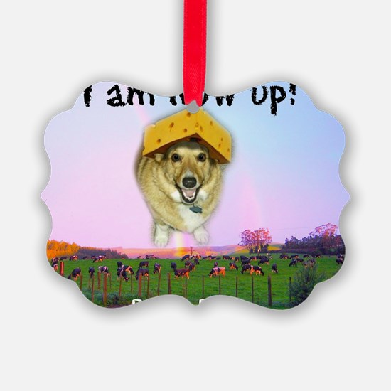 Barney Boots - I Am Now Up Ornament