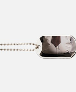 Obese businessman Dog Tags