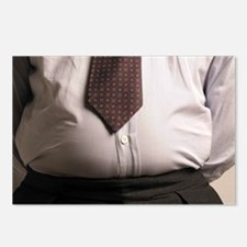 Obese businessman Postcards (Package of 8)
