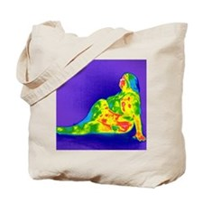 Obese woman, thermogram Tote Bag