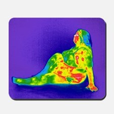 Obese woman, thermogram Mousepad
