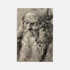Old man, art by Durer Rectangle Magnet