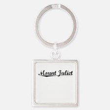 Mount Juliet, Vintage Square Keychain