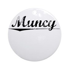Muncy, Vintage Round Ornament