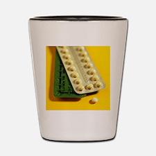Oral contraception Shot Glass