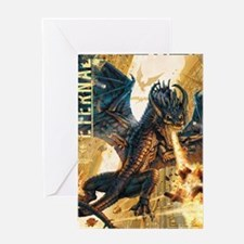 Eternal Edge-Dragon Fire Greeting Card