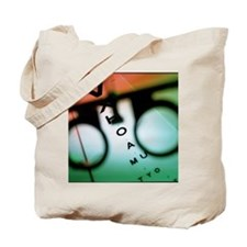 Ophthalmology test frames and eye chart Tote Bag
