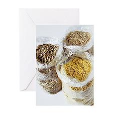 Organic dry foods Greeting Card