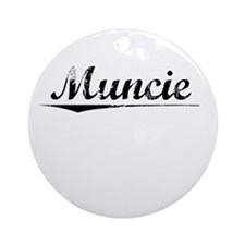 Muncie, Vintage Round Ornament