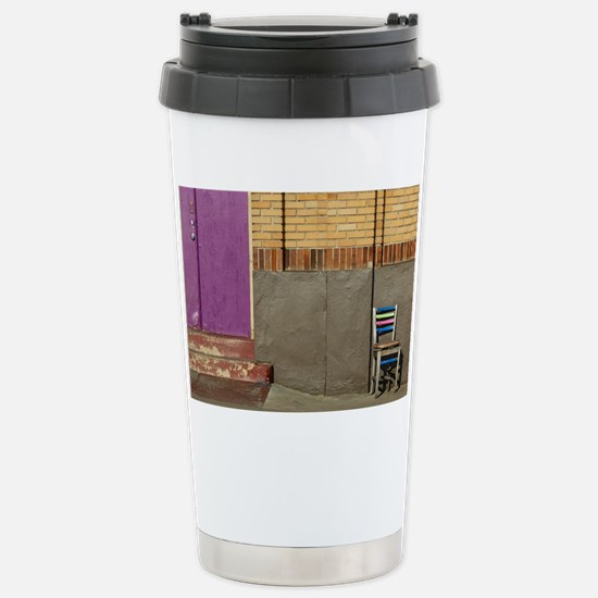 Door and Chair Stainless Steel Travel Mug