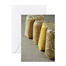Packets of seeds and grains Greeting Card
