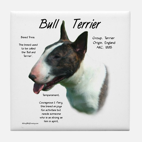Bull Terrier (colored) Tile Coaster