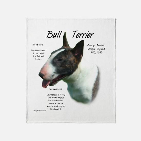 Bull Terrier (colored) Throw Blanket