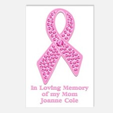Breast Cancer Gem Ribbon Postcards (Package of 8)