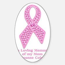Breast Cancer Gem Ribbon Decal
