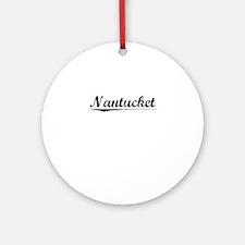 Nantucket, Vintage Round Ornament
