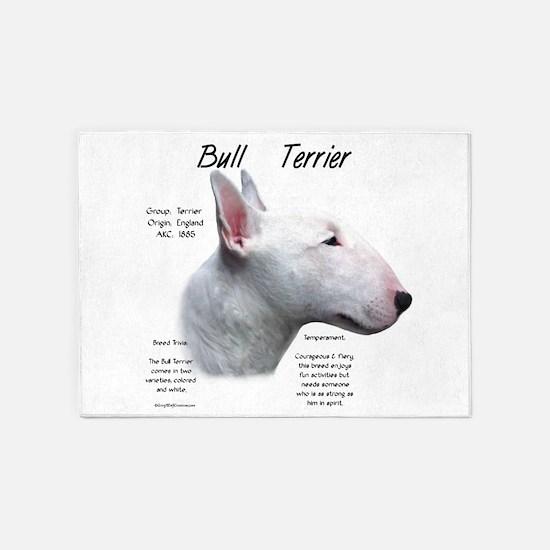 Bull Terrier (white) 5'x7'Area Rug