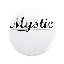 """Mystic, Vintage 3.5"""" Button"""