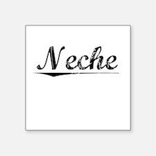 "Neche, Vintage Square Sticker 3"" x 3"""