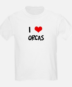 I Love Orcas Kids T-Shirt