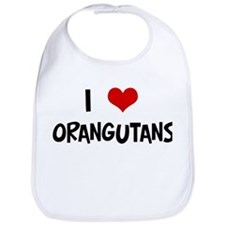 I Love Orangutans Bib