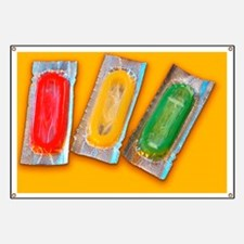 Packets of condoms Banner