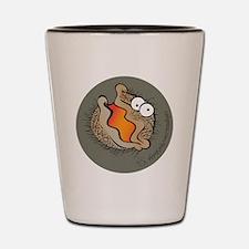 Bearded Clam (orange) Shot Glass