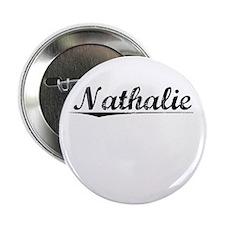 """Nathalie, Vintage 2.25"""" Button"""