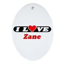 I Love Zane Oval Ornament