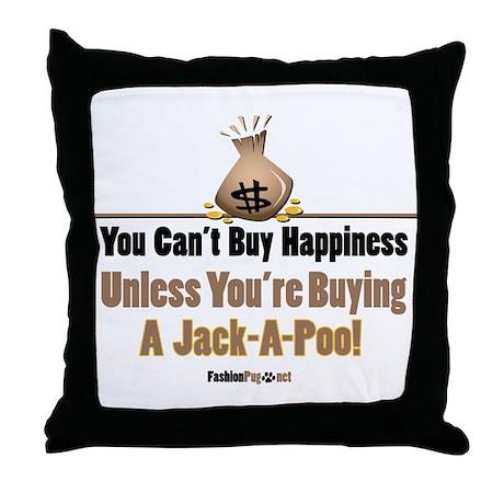 Jack-A-Poo dog Throw Pillow
